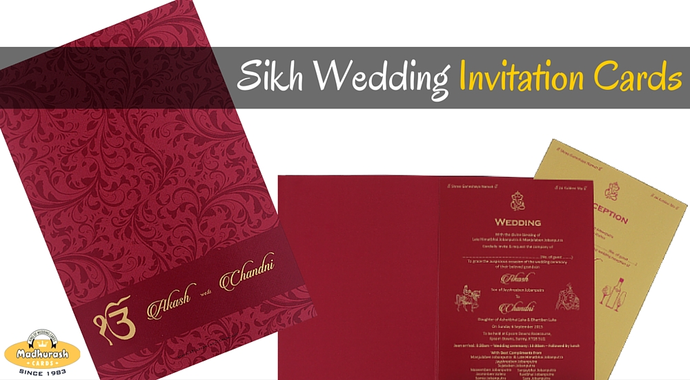 Sikh Wedding 3 Things To Know Before Ordering Customized Wedding – Sikh Invitation Cards